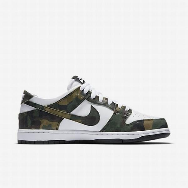 Nike Men SB Dunk Low Pro Green White Black Shoes 8...