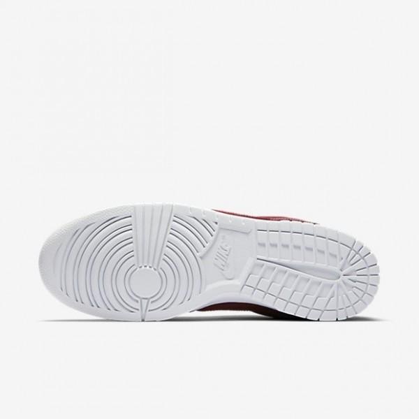 Nike Men Dunk Retro Low Red White Shoes 896176-601