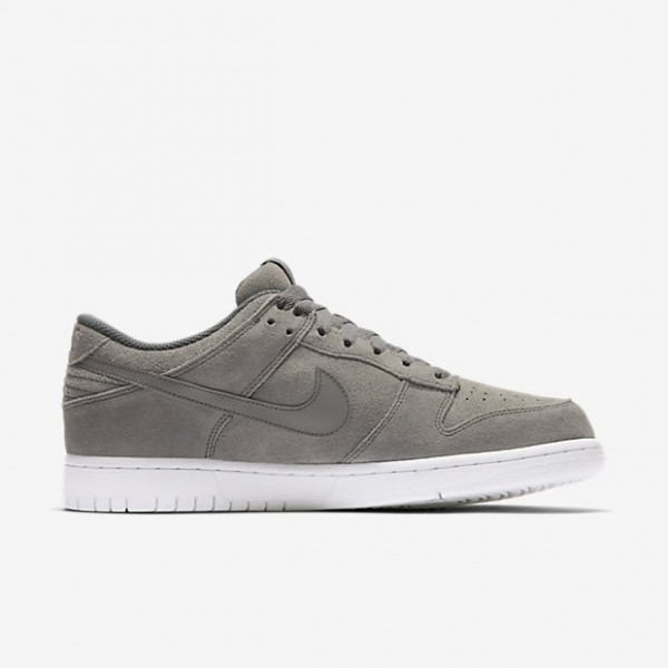 Nike Men Dunk Retro Low Grey White Shoes 896176-003