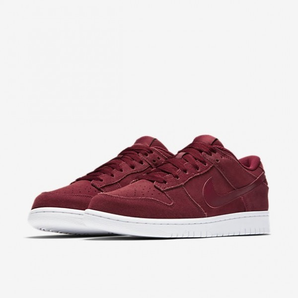 Nike Men Dunk Retro Low Red White Shoes 896176-601