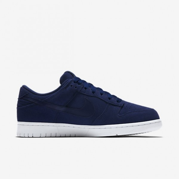 Nike Men Dunk Retro Low Blue White Shoes 896176-400