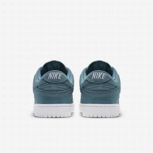 Nike Men Dunk Retro Low Blue White Shoes 896176-002