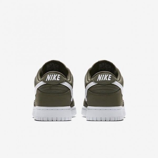 Nike Men Dunk Low Khaki White Shoes 904234-303