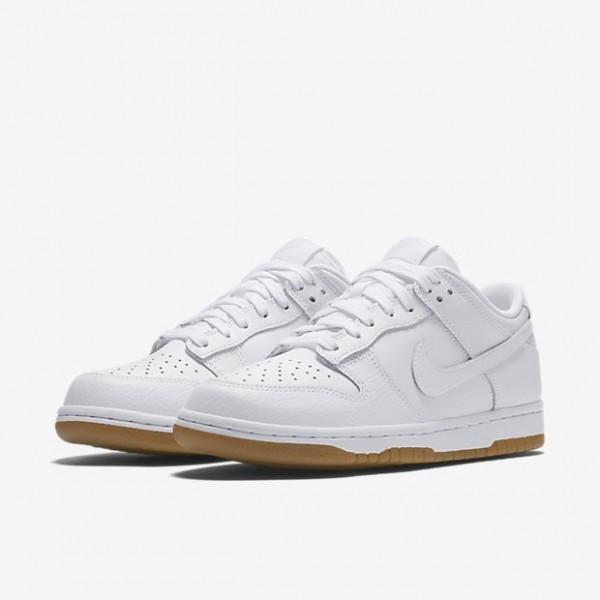 Nike Women Dunk Low White Light Brown Shoes 311369-100