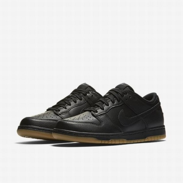 Nike Women Dunk Low Black Grey Brown Shoes 311369-001