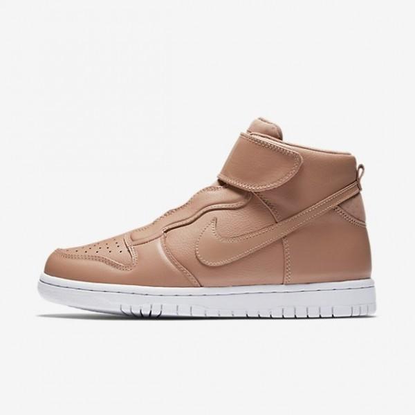 Nike Women Dunk High Ease Khaki White Shoes 896187-200
