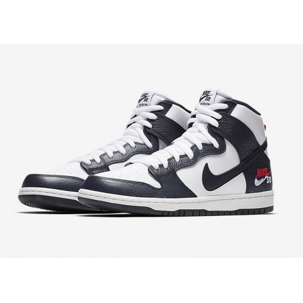 Nike SB Zoom Dunk High Pro 854851-441 Obsidian/White/Red