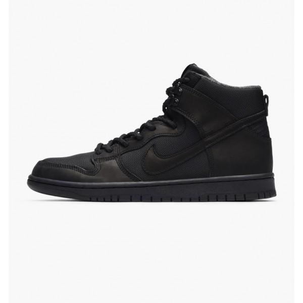 """Nike Men Zoom Dunk High Pro Bota """"Triple Black"""" Shoes 923110-001"""
