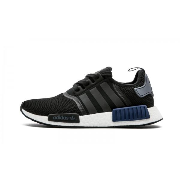 Adidas Men Originals PK NMD R1 Boost Black Dark Blue Shoes S76841