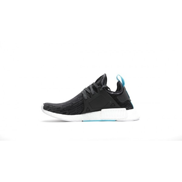 Adidas Men Originals NMD XR1 Primeknit Runner Boost Black Silver Shoes S77195