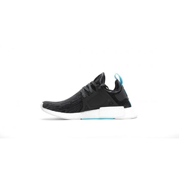 Adidas Men Originals NMD XR1 Primeknit Runner Boost Black Silver Shoes S77195