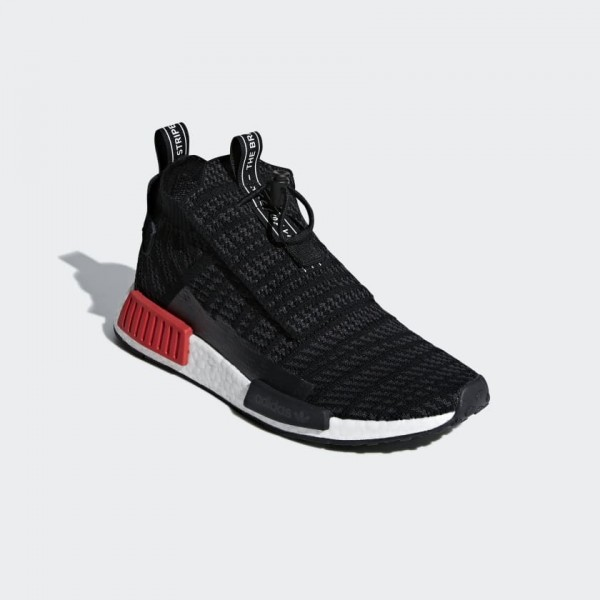 Adidas Men Originals NMD TS1 Bred Black Grey Shoes B37634