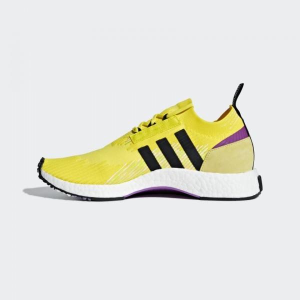 Adidas Men Originals NMD Racer PK Yellow Black Pur...