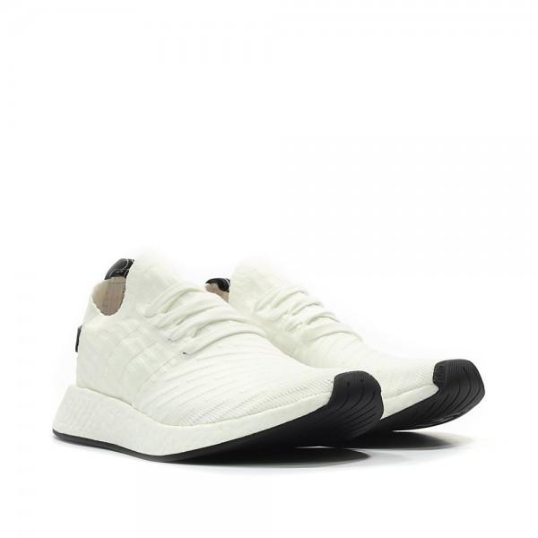Adidas Men Originals NMD R2 Primeknit White Shoes BY3015