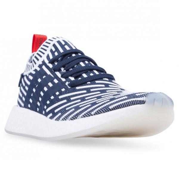 Adidas Men Originals NMD R2 Primeknit Navy Shoes BB2909