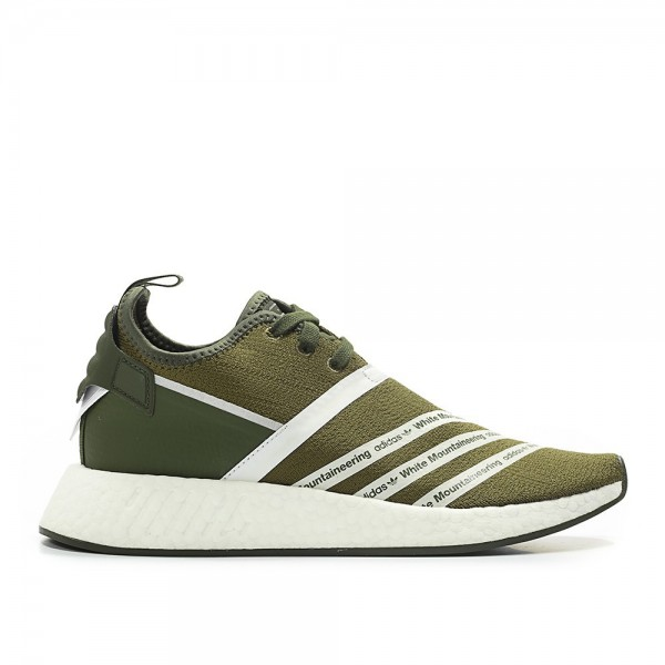 Adidas Men Originals NMD R2 PK By White Mountaineering Green White Shoes CG3649