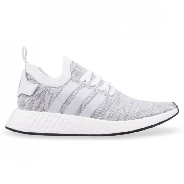 Adidas Men Originals NMD R2 Pk Boost White Black Shoes BY9410