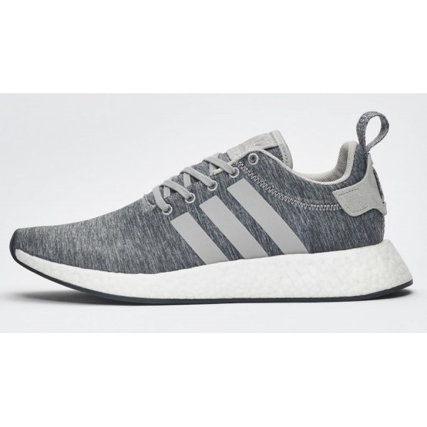 Adidas Men Originals NMD R2 Melange Pack Medium Grey Shoes BY2790
