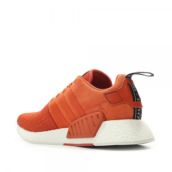 Adidas Men Originals NMD R2 Boost Red White Shoes BY9915
