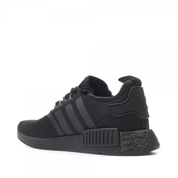 "Adidas Men Originals NMD R1 Runner Colored Boost ""Triple Black"" Shoes S31508"