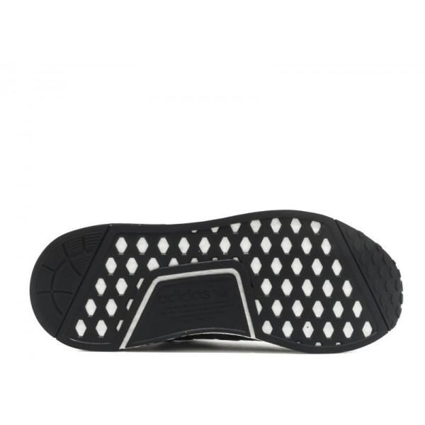 Adidas Men Originals NMD R1 Runner Black White Shoes BA7251