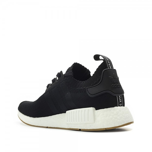Adidas Men Originals NMD R1 Primeknit Runner Boost Black White Shoes BY1887
