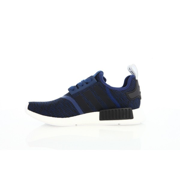 Adidas Men Originals NMD R1 Blue Black Shoes BY2775