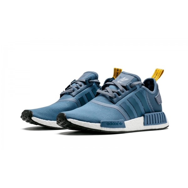 Adidas Men Originals NMD R1 Blue White Running Shoes S31514