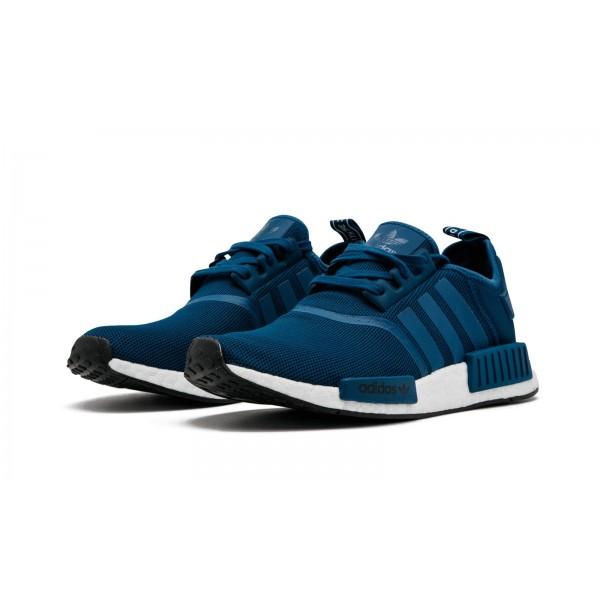 Adidas Men Originals NMD R1 Blue Black Shoes BY3016
