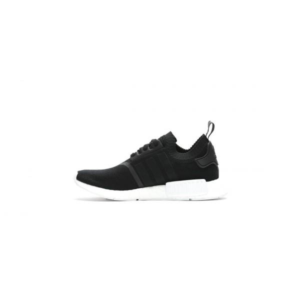 Adidas Men Originals NMD R1 Black White Running Shoes BA8629