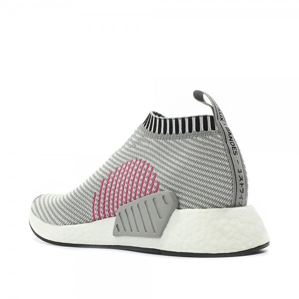 Adidas Men Originals NMD CS2 Pk Runner Boost Grey White Pink Shoes BA7187