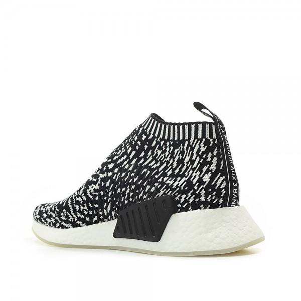 "Adidas Men Originals NMD CS2 City Sock Primeknit Zebra ""Sashiko Pack"" Black White Shoes BY3012"