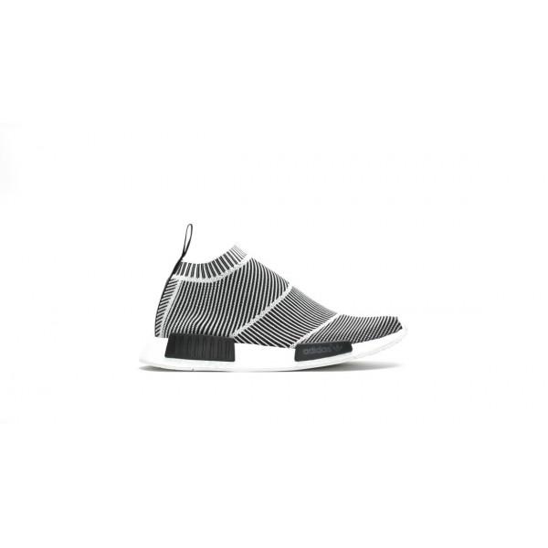 Adidas Men Originals NMD City Sock Primeknit Black White Shoes S79150