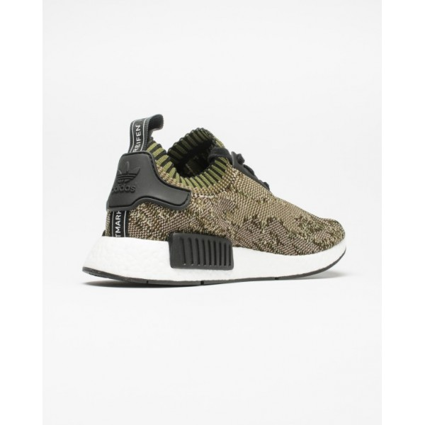 Adidas Men NMD R1 Primeknit Olive Green Shoes BA8597