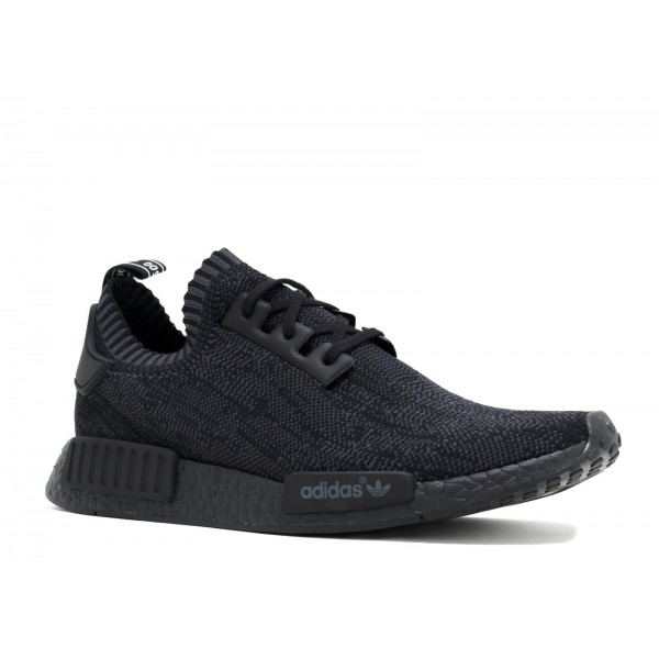 Adidas Men NMD R1 Primeknit Pitch Black Shoes S80489