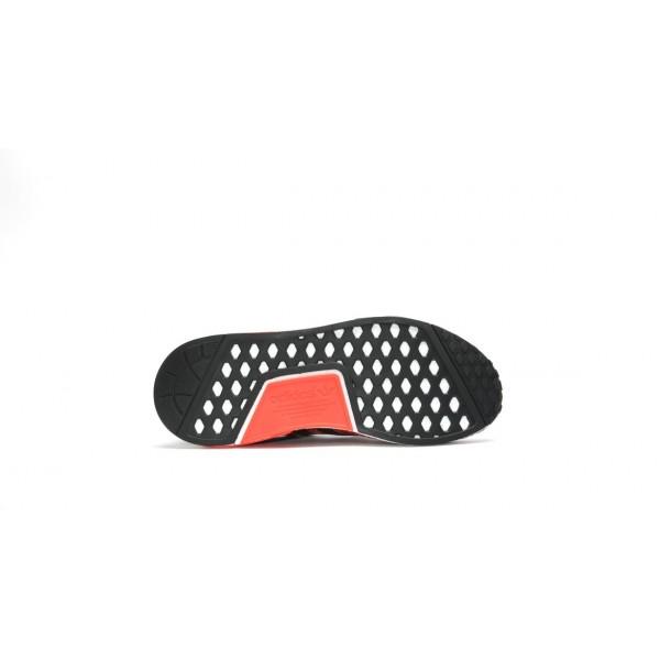 Adidas Men NMD R1 Primeknit Lush Red Black Shoes S79158