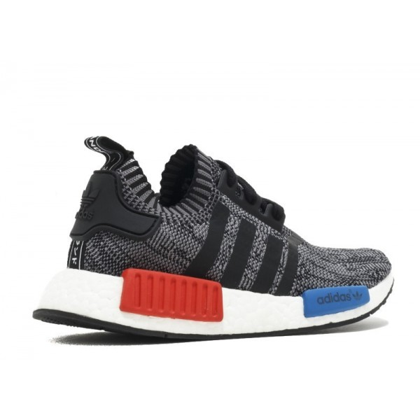"""Adidas Men NMD R1 Primeknit """"Friends And Family"""" Red White Blue Shoes N00001"""