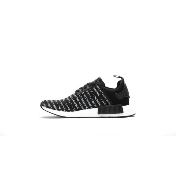 Adidas Men NMD R1 Original Boost Runner Black White Shoes S76519
