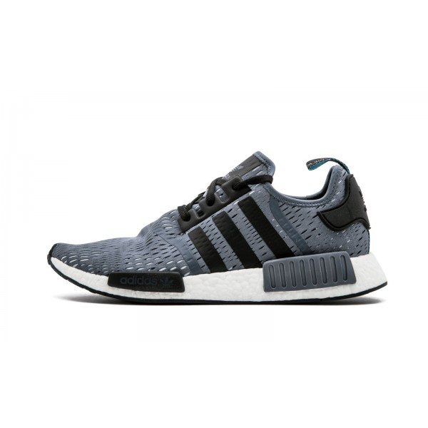 Adidas Men NMD R1 Onix Grey Black Mesh Shoes BB135...