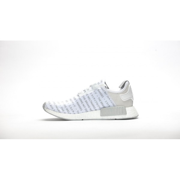 Adidas Men NMD R1 Nomad The Brand With 3 Stripes Whiteout White Grey Shoes S76518