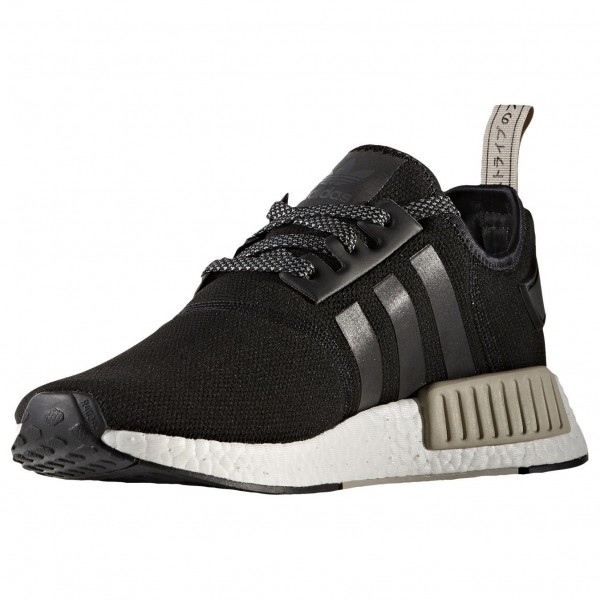 Adidas Men NMD R1 Nomad Boost Ultra Black White Tan Shoes S76847