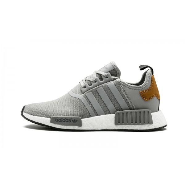 Adidas Men NMD R1 Craftsmanship Pack Grey Tan Shoe...