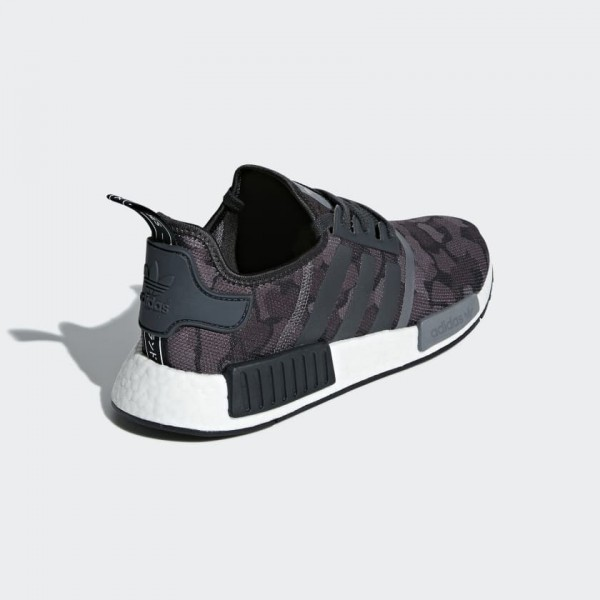 Adidas Men NMD R1 Core Black/Grey Sneakers D96616