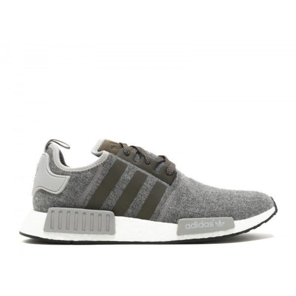 Adidas Men NMD R1 Charcoal Grey Wool Shoes BW0616