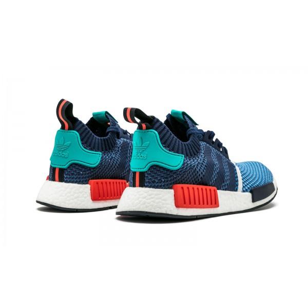 Adidas Men NMD R1 Clear Sky Dark Blue Light Aqua Shoes BB5051