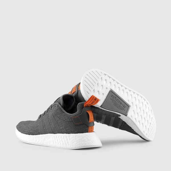 Adidas Men NMD R2 Grey Future Harvest Shoes BY3014