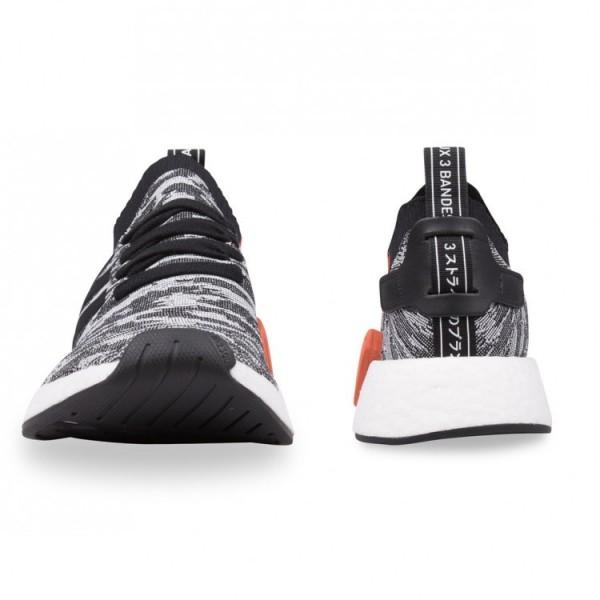 Adidas Men NMD R2 PK Core Black White Shoes BY9409