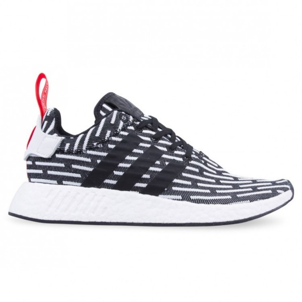 Adidas Men NMD R2 Core Black White Shoes BB2951