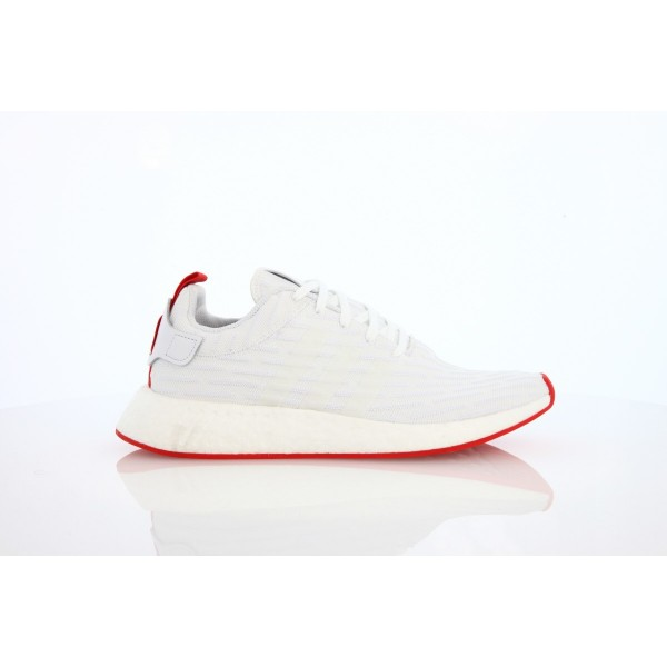 Adidas Men NMD R2 Boost Runner Primeknit White Sho...