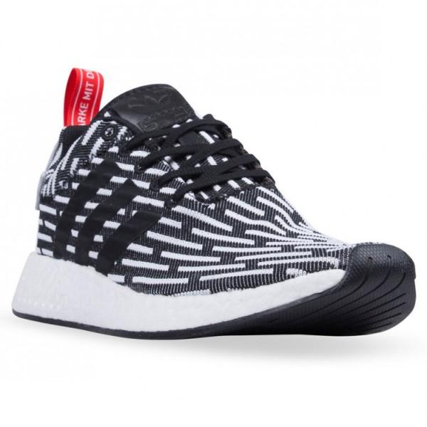 Adidas Men NMD R2 Core Black White Shoes BB2951